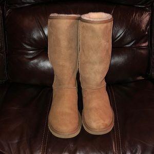 Tall Chestnut Ugg boots!! Women's size 6!